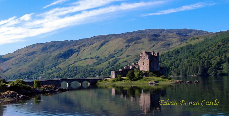 Morag Dunbar, Scottish Driver-Guide and an accredited Scottish Blue Badge Tourist Guide - eilean donan castle