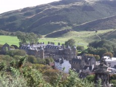View from Calton Hill towards Holyrood Palace