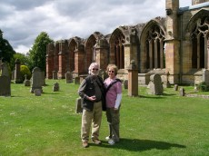 Melrose Abbey with Catharyn & Ted Von Ende