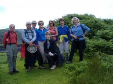 Morag with walking group
