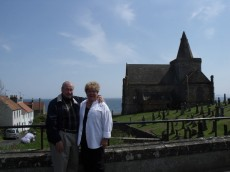 St Monans Church with Sherry & Bill Farr