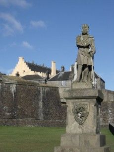 Stirling Castle with Robert the Bruce